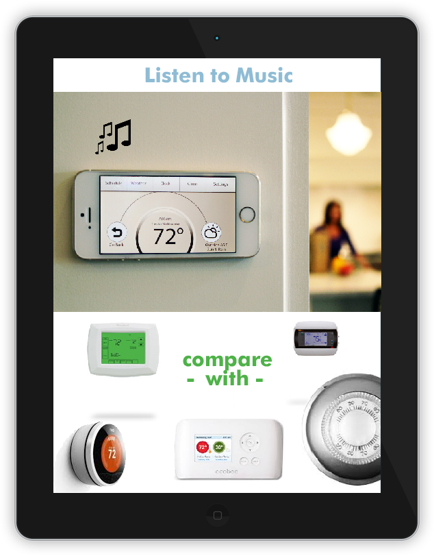Climate Control, Music Player, Smart Home System